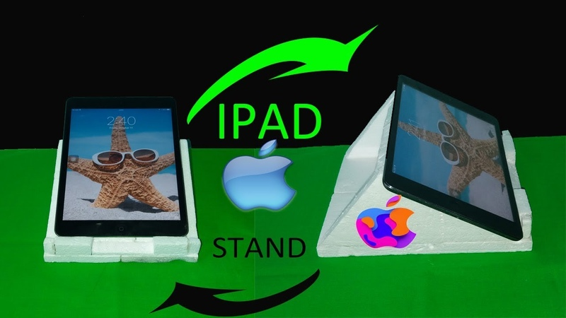 How to make an IPAD/TABLET/IPHONE/ANDROID stand with foam sheet | tablet stand for all model