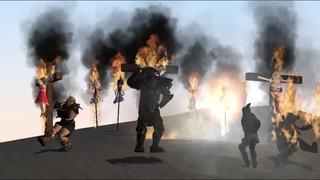 Ceasar Legion burn Sonic OC and random anime girls