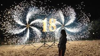 Пиротехнические цифры на день рождения в Ростове   GOF show