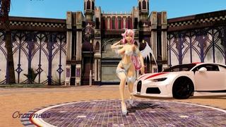 【MMD Vocaloid Test】Cyber Thunder Cider - Megurine Luka 「Test Model P.2」