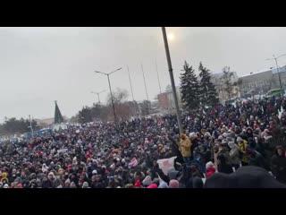 Иркутск. Люди скандируют «Мы не уйдём» [Рифмы и Панчи]