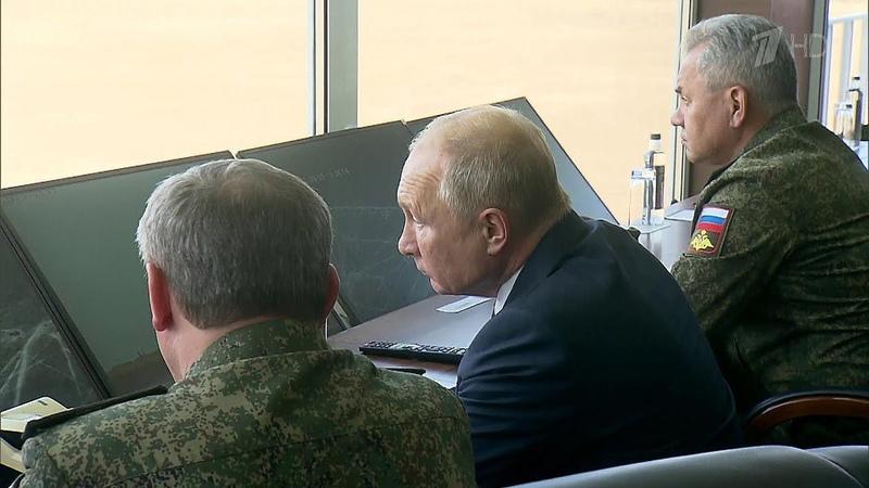 За главным днем учений Кавказ 2020 на юге России наблюдал Верховный главнокомандующий