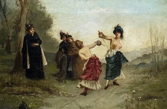 Самая знаменитая женская дуэль. Княгиня против графини Событие, о котором мы расскажем сегодня, произошло в середине августа 1892 года в столице Лихтенштейна Вадуце. На дуэли подрались две