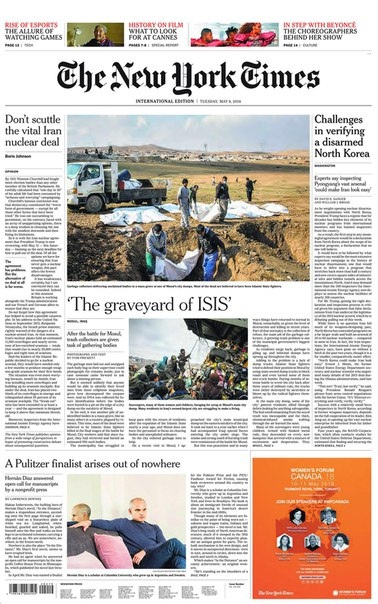 2018-05-08 The New York Times International Edition