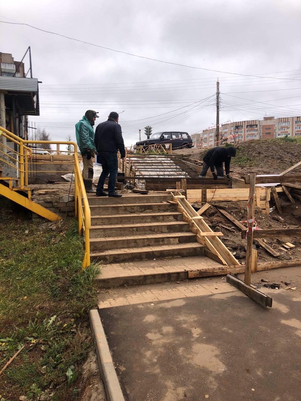 Улица Упита дом 13 ремонт лестницы