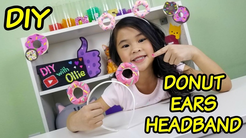 DIY Sculpey Donut Ear Headband Pluffy Clay Tutorials Donut Mickey Ears DIY
