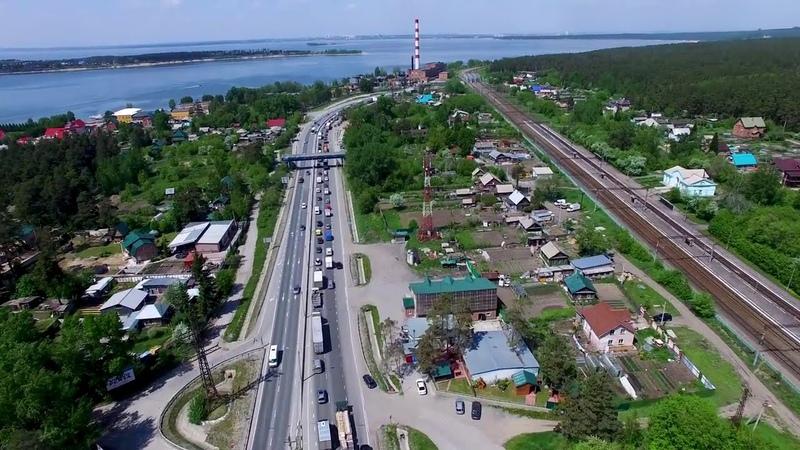 Бердск с высоты птичьего полета Новосибирская область