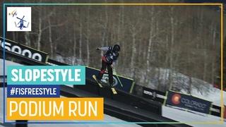 Anastasia Tatalina   3rd place   Women's Slopestyle   Aspen   FIS Freestyle Skiing