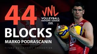 44 Blocks by Marko Podrascanin | Best Blockers VNL 2021