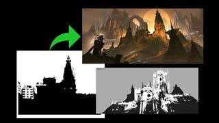China Digital Painting - Concept environment tutorial  - BigballGao