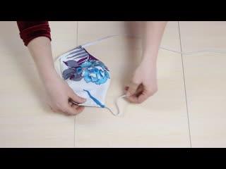 Как сделать многоразовую маску своими руками! Мастер Класс как сшить маску. МАСК