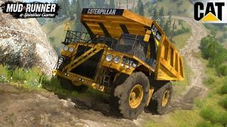 Spintires: MudRunner - CATERPILLAR 797F Mining Dump Truck Driving Uphill