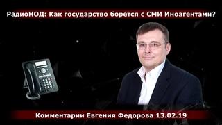 РадиоНОД:  Как государство борется с СМИ Иноагентами? Комментарии Е.А. Фёдорова
