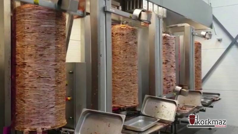 Korkmaz Mekatronik | Sweden Nisso Kebab 650 Kg Döner Gyros Shwarma Slicing Robots