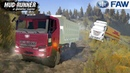 Spintires MudRunner FAW DUMP TRUCK Pulls out a Truck that is Stuck on a Slope