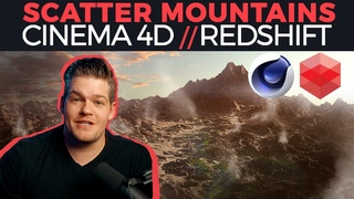 Scattering Mountains : Cinema 4D / Redshift Tutorial