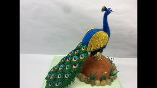 DIY Egg Shell Peacock   How to make Peacock   Egg Shell Craft   Coconut Shell Craft   Bestoutofwaste