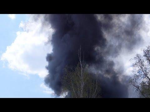 Большой пожар в Рубежном