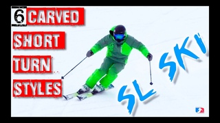 6 Carved short turn variations slalom ski - Reilly McGlashan