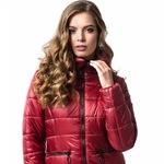 Модная зимняя куртка в стиле «бомбер» 1232