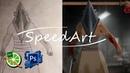 Pyramid Head |SpeedArt| |Paint Tool SAI Adobe Photoshop CS5|