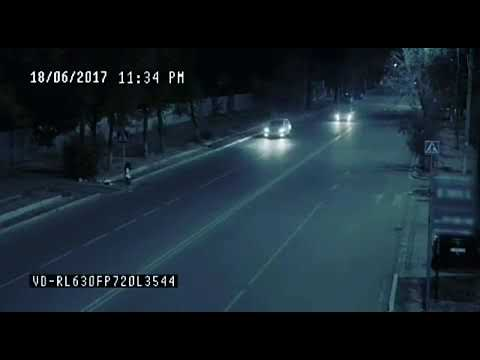 Ангел спас человека на дороге