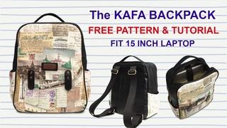 The Kafa Backpack Tutorial - Cara Membuat Tas Ransel / Tas Laptop - Bag Making with Miko Craft