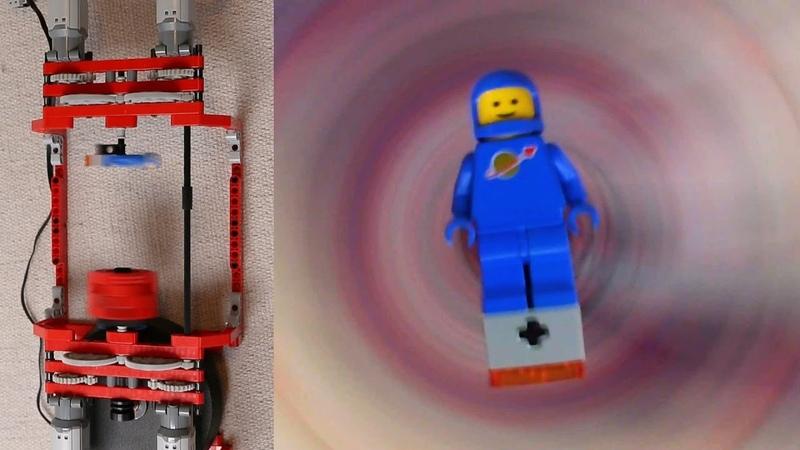 Spinning Mini Camera and Lego Benny