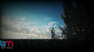 The most beautiful sound of rain falling on the window glass at night in winter to relax and study