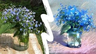 Как нарисовать цветы пастелью —  — Поэтапный урок с Ириной Климовой