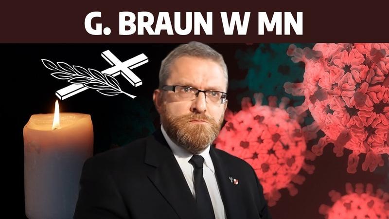 G Braun wygrywa w Rzeszowie Zagadka podwójnych nekrologów covidowych