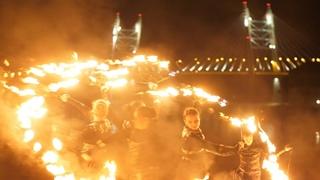 Президентское фаер шоу в ресторане Цинь. Театр огня и света «БезГраниц»