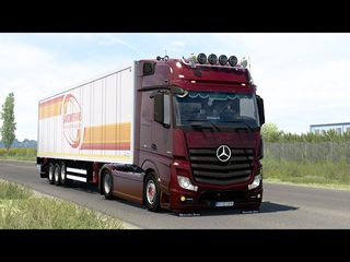 ETS2  - Euro Truck Simulator 2 - Mercedes Benz ACTROS MP4 - Amsterdam (NL) to Metz (F)