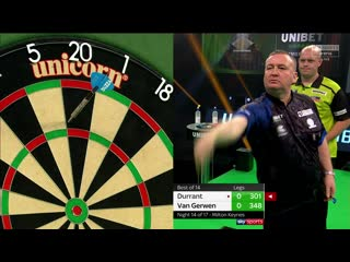 Glen Durrant vs Michael van Gerwen (PDC Premier League Darts 2020 / Week 14)
