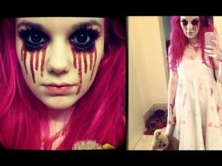 Creepy Little Girl Halloween Makeup Tutorial