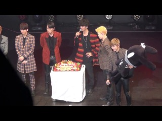 "[fancam:fan event] 140331 b.a.p @ фанмитинг ""the first date with baby japan"" в токио (япония)."