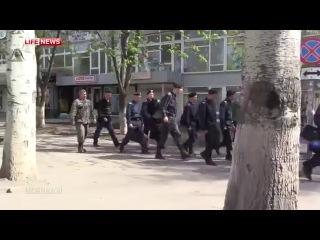 Новое. Сотрудники милиции Горловки, сдались народным ополченцам. .
