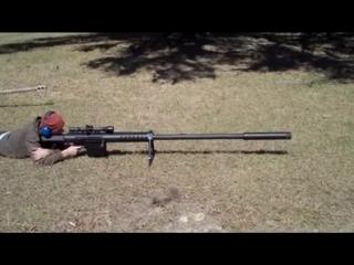 Крупнокалиберная снайперская винтоа anzio mag-fed 20mm rifle с патроном и глушителем