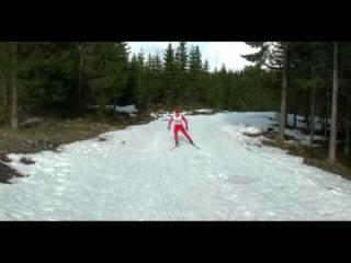 Пародии на ход знаменитых норвежских лыжников))