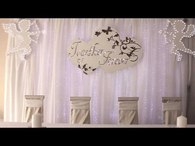 Светодиодные украшения в декорировании свадеб