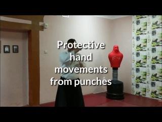 Aikido protective hand movements