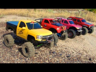 RC ADVENTURES - 4 SCALE RC 4x4 TRUCKS in ACTiON