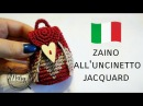 Mini zaino all'uncinetto jacquard tapestry MARYJ HANDMADE