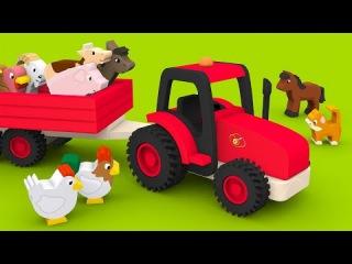 Apprendre les animaux de la ferme et leurs cris. Dessins animés pour bébés en français. Learn French