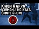 Ninjutsu Kihon Happō Koshi Kihon Sanpō No Kata Ichimonji No Kata Omote Shuto Gyokko Ryû