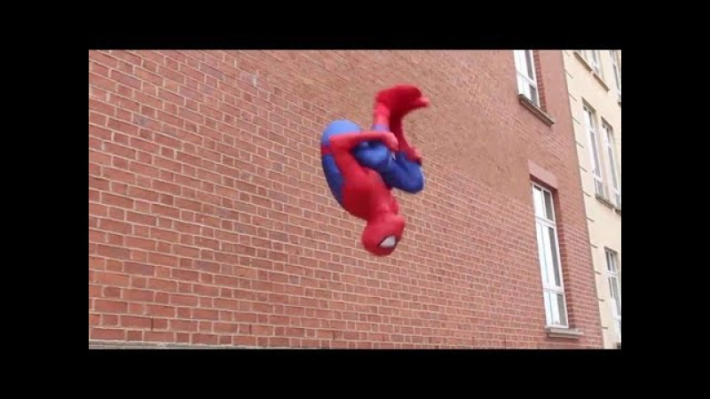 SPIDERMAN Fights Crime in Real Life | Parkour, Flips Kicks
