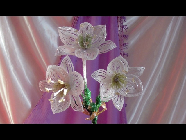 Амазонская лилия из бисера Урок 1 Материалы Beaded amazon lily Lesson 1 Supplies