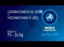 GOLD FS - 70 kg: M. GAZIMAGOMEDO (RUS) df. H. YAZDANICHARA (IRI), 10-3