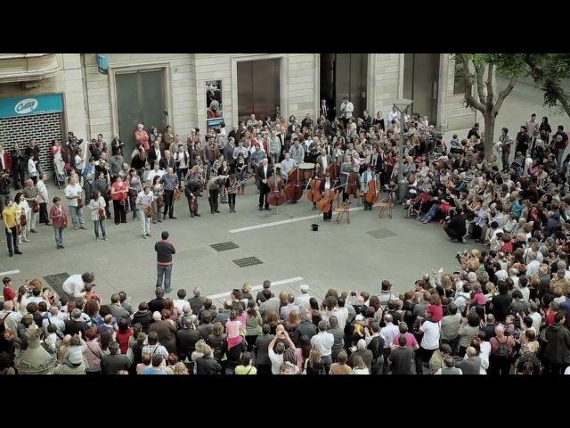 Som Sabadell flashmob BANCO SABADELL