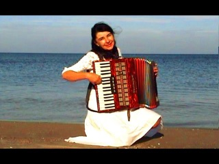 WIESŁAWA DUDKOWIAK   with Accordion on Beach 1, The most beautiful relaxing melody